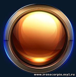 Глянцевая круглая кнопка для сайта