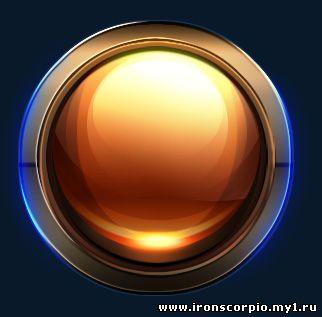 Урок фотошоп - Глянцевая круглая кнопка для сайта Мир ВебМастера